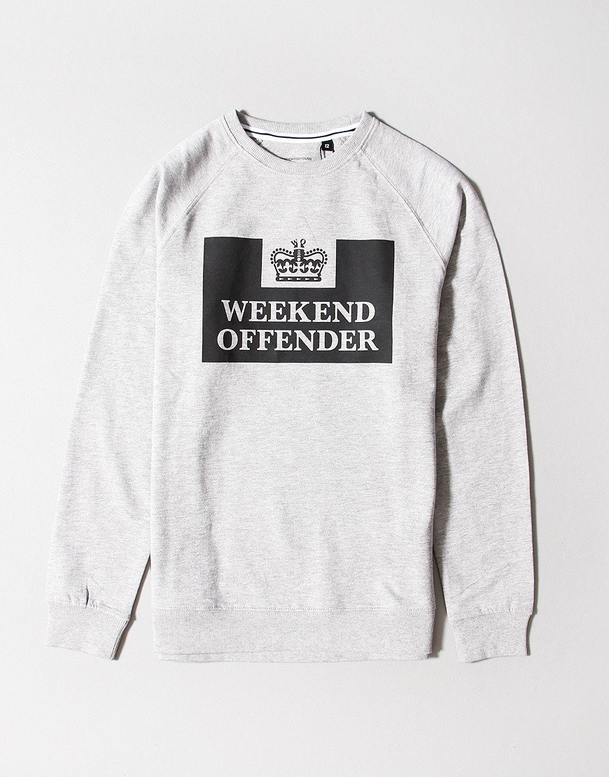 Weekend Offender Kids Penitentiary Sweat Grey
