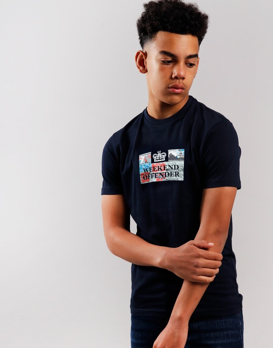 Weekend Offender Kids Tickets T-Shirt Navy