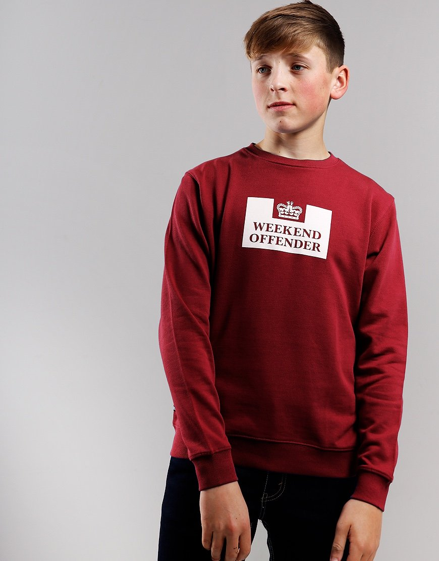 Weekend Offender Kids Penitentiary Sweat Garnet
