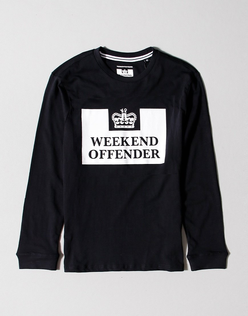 Weekend Offender Kids Prison Long Sleeve T-shirt Black