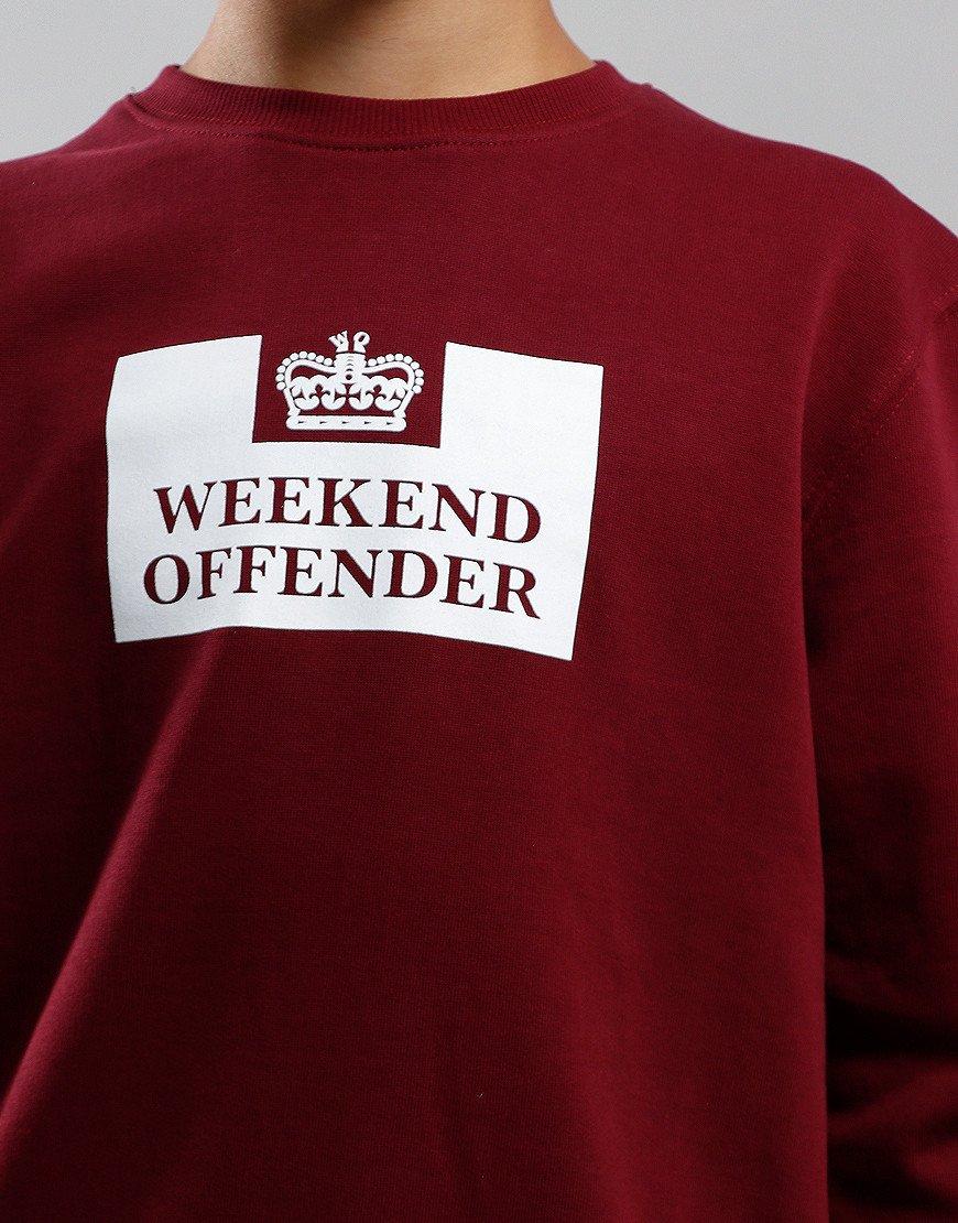 Weekend Offender Kids Penitentiary Sweat Garnet
