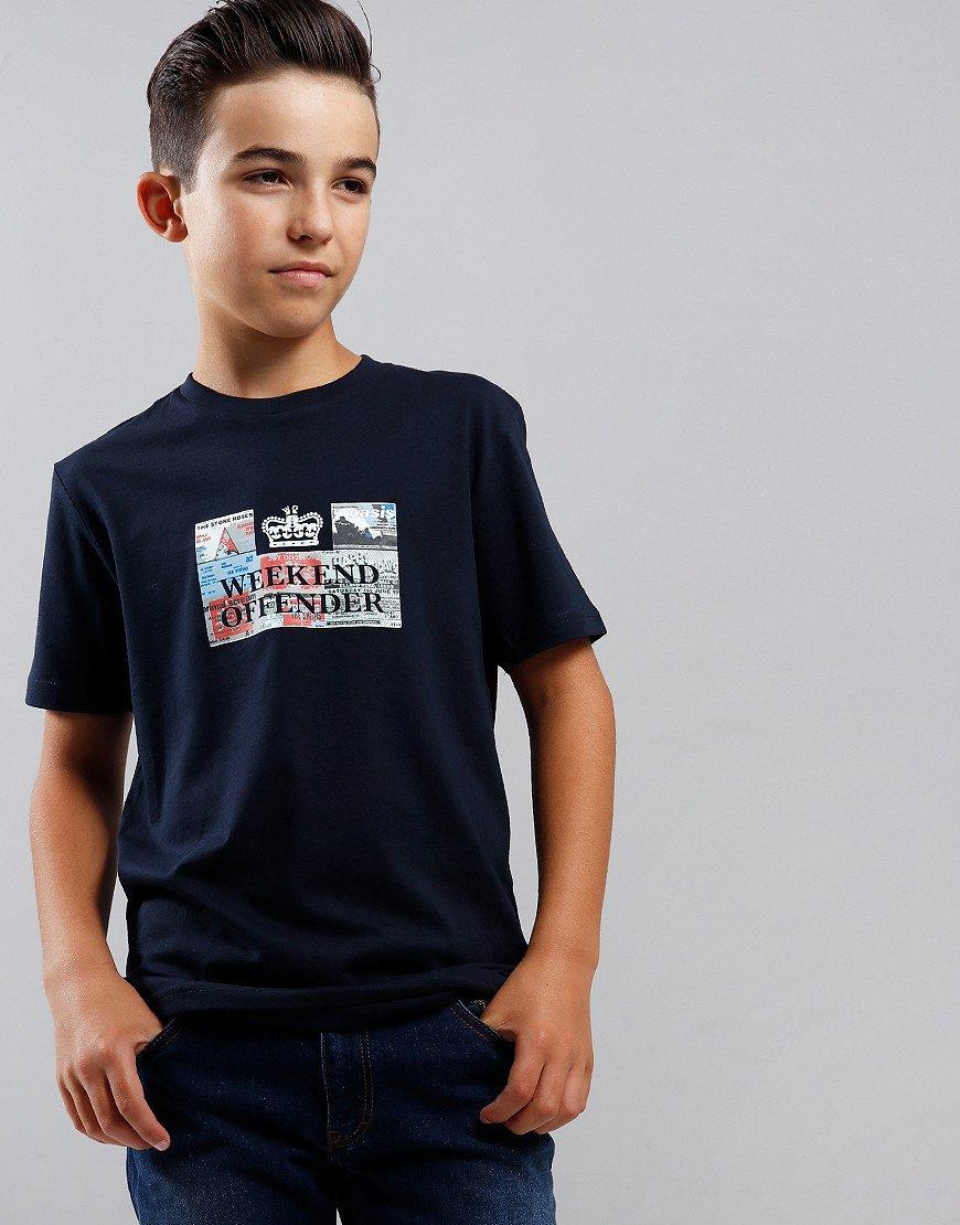 Weekend Offender Kids Tickets T-Shirt Navy