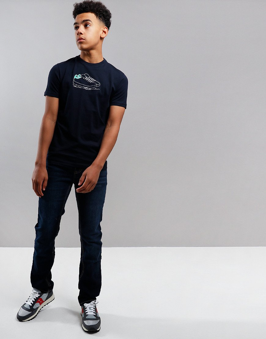 Weekend Offender Kids Trainers T-Shirt Navy