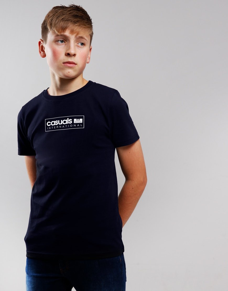Weekend Offender Kids Casual International T-shirt Navy