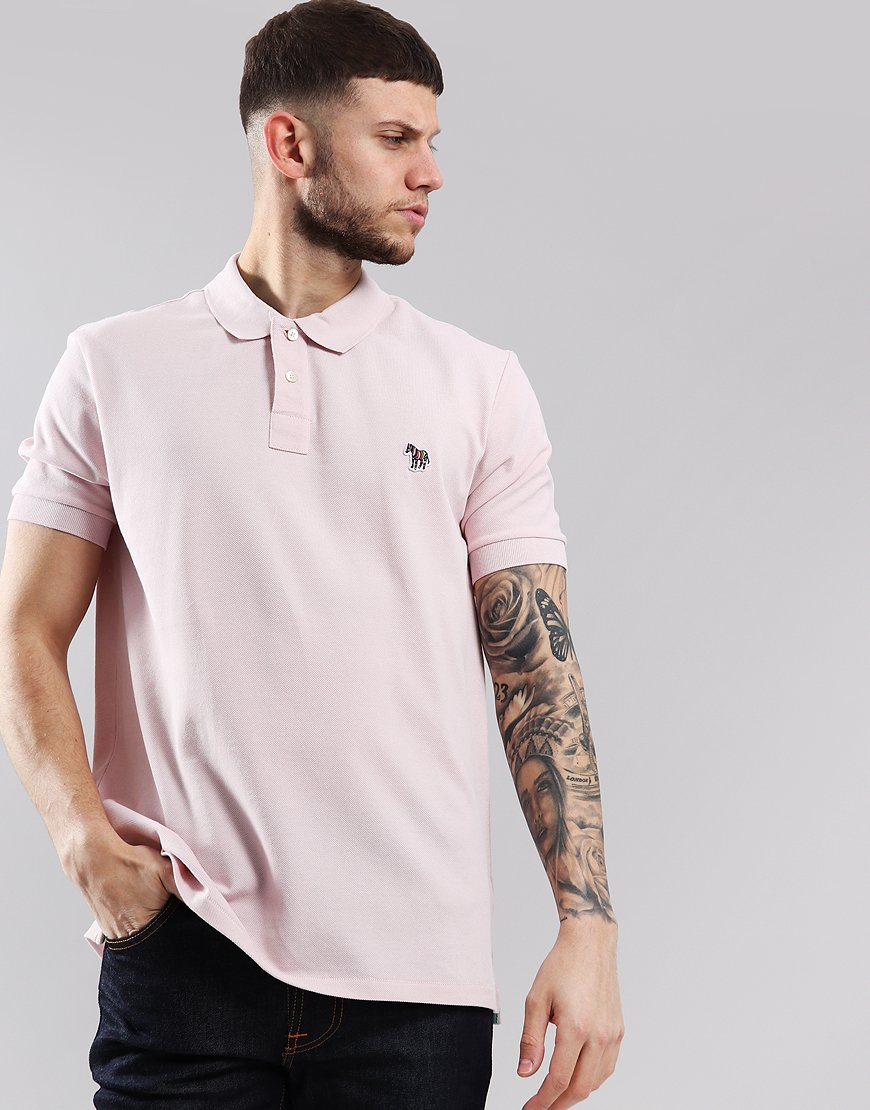 Paul Smith Zebra Logo Polo Shirt Pink