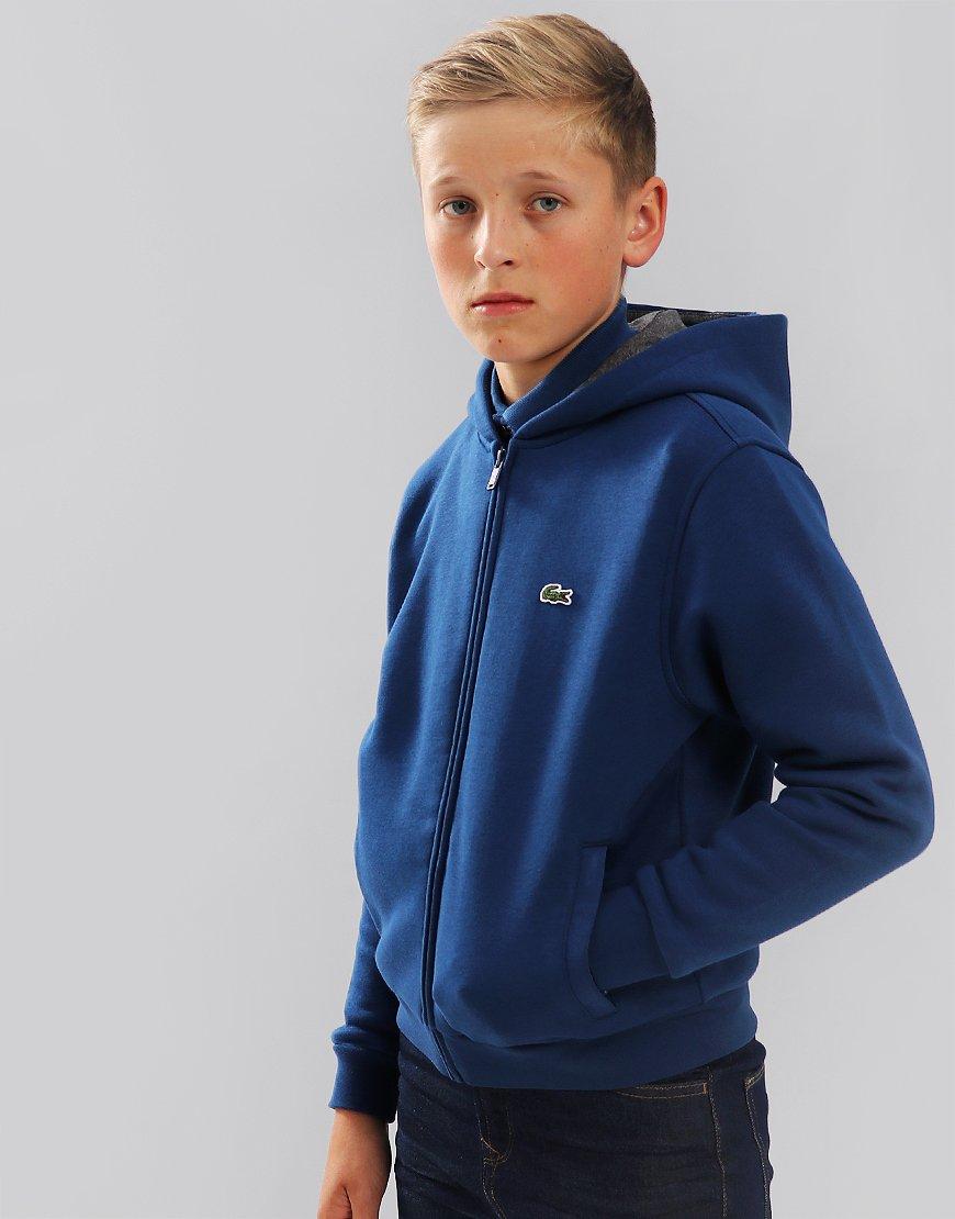 Lacoste Sport Kids Zip Hoodie Inkwell/Pitch