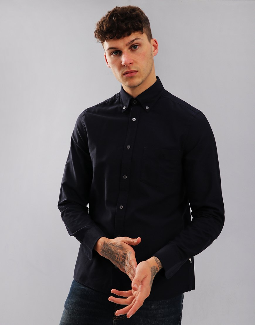 Aquascutum Bevan Long Sleeved Shirt Navy