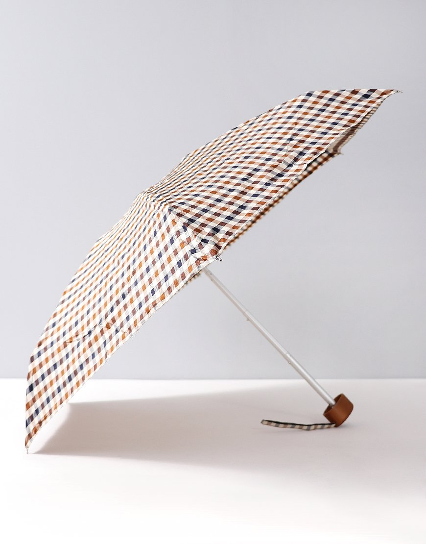 Aquascutum Club Check Extra Small Umbrella Vicuna