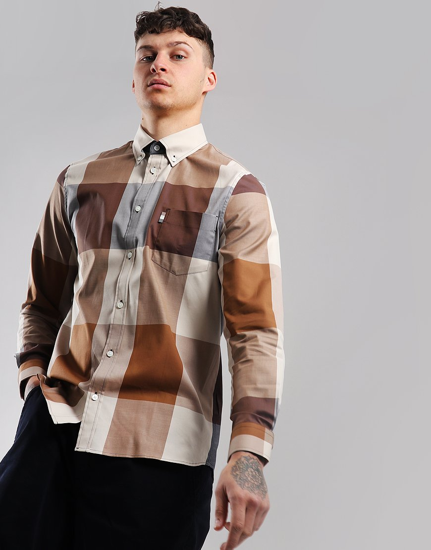 Aquascutum Henlake Long Sleeve Check Shirt Vicuna
