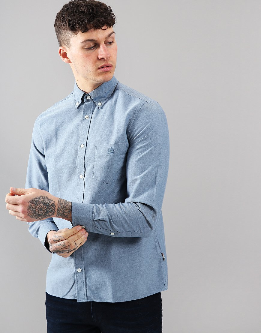 Aquascutum Bevan Long Sleeved Shirt Blue