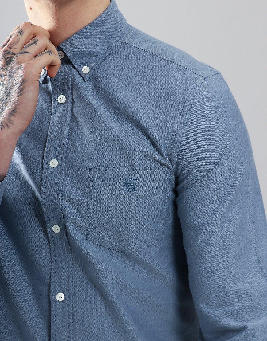 Aquascutum Bevan Long Sleeved Shirt Blue
