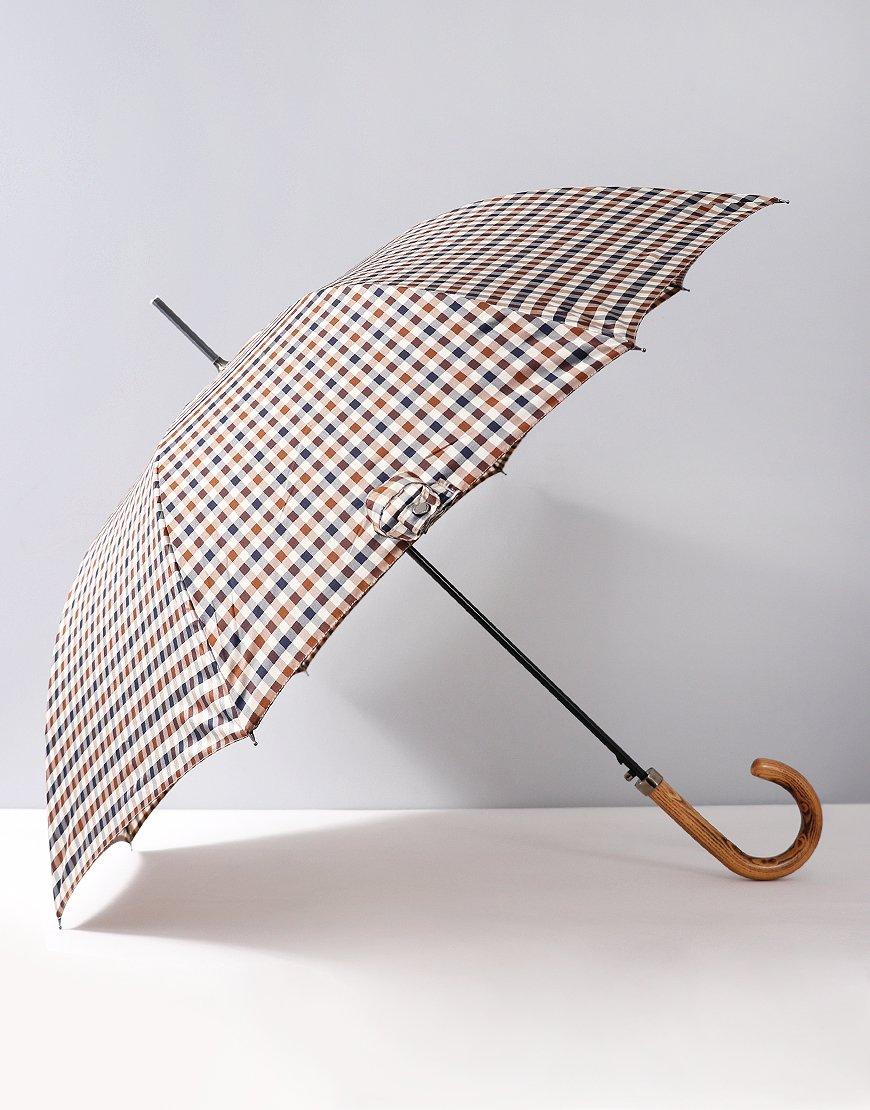 Aquascutum Club Check Walker Umbrella Vicuna