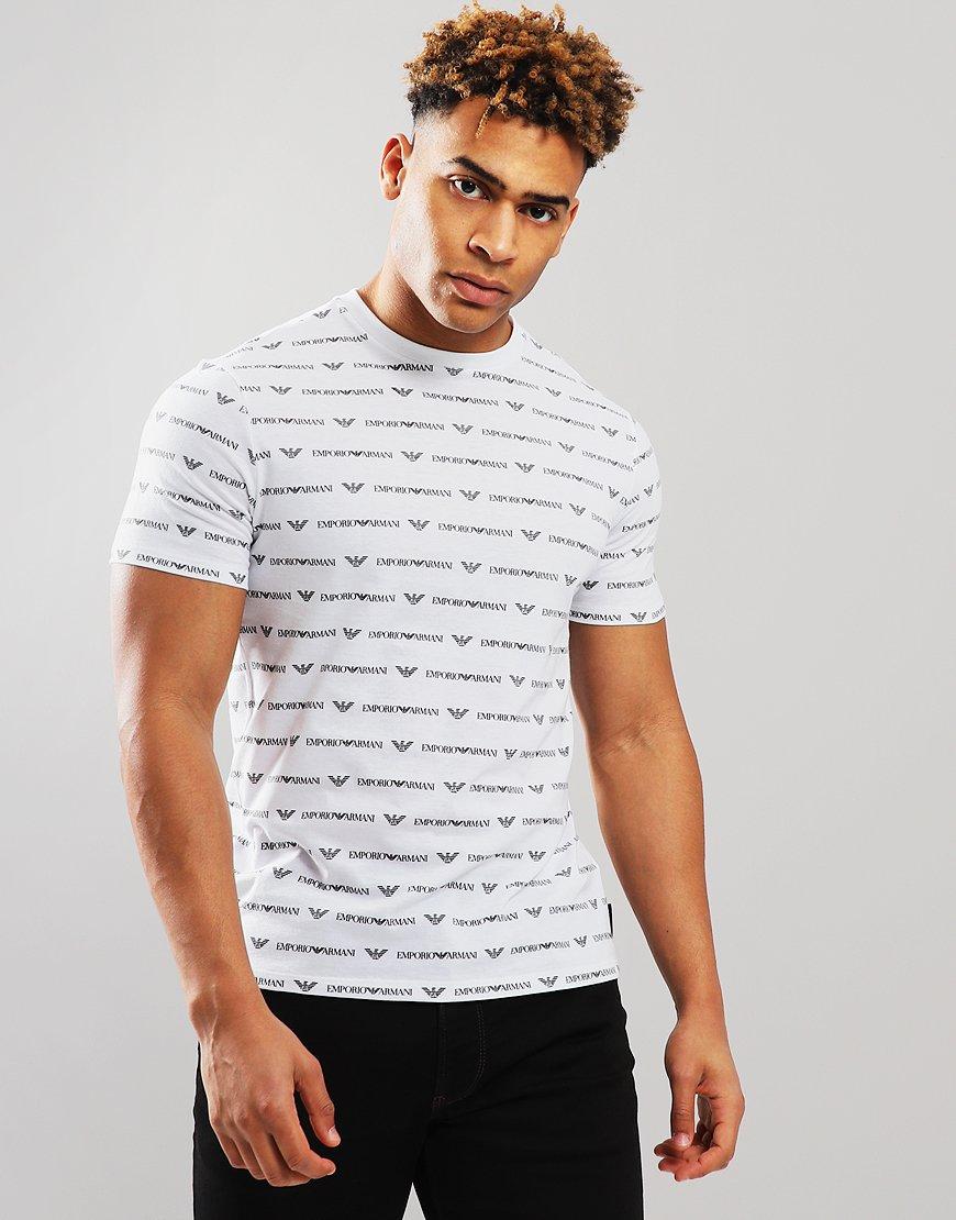 Emporio Armani All Over Print T-Shirt White