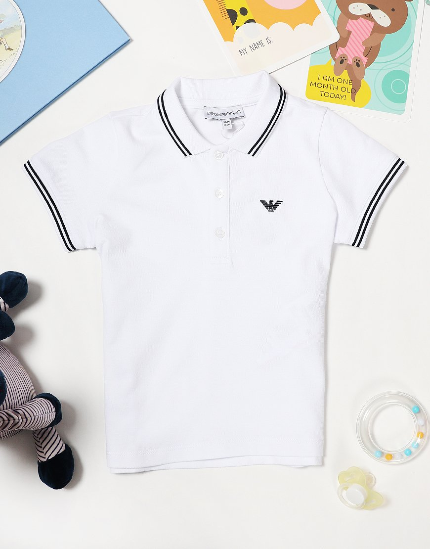 99acd112 Armani Baby Tipped Polo Shirt White - Terraces Menswear