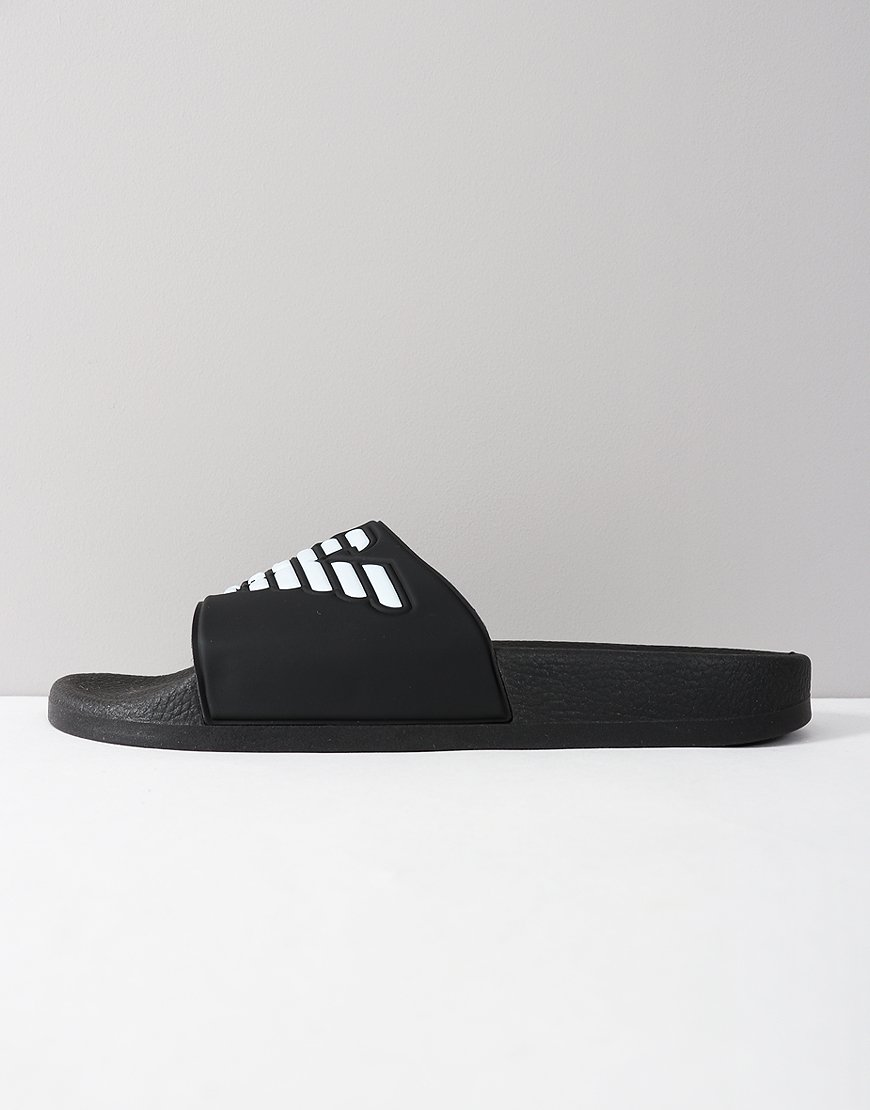 Emporio Armani Beach Slipper Black Iris