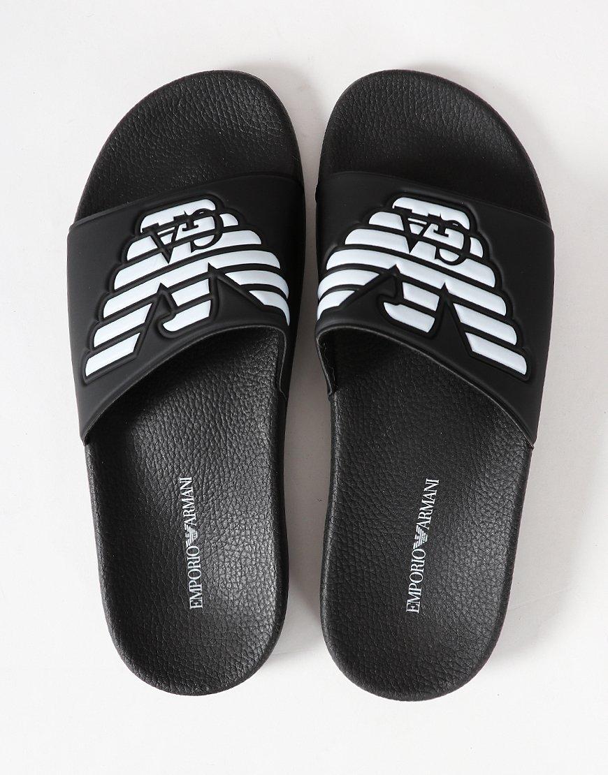 4f95831ec Emporio Armani Beach Slipper Black Iris - Terraces Menswear