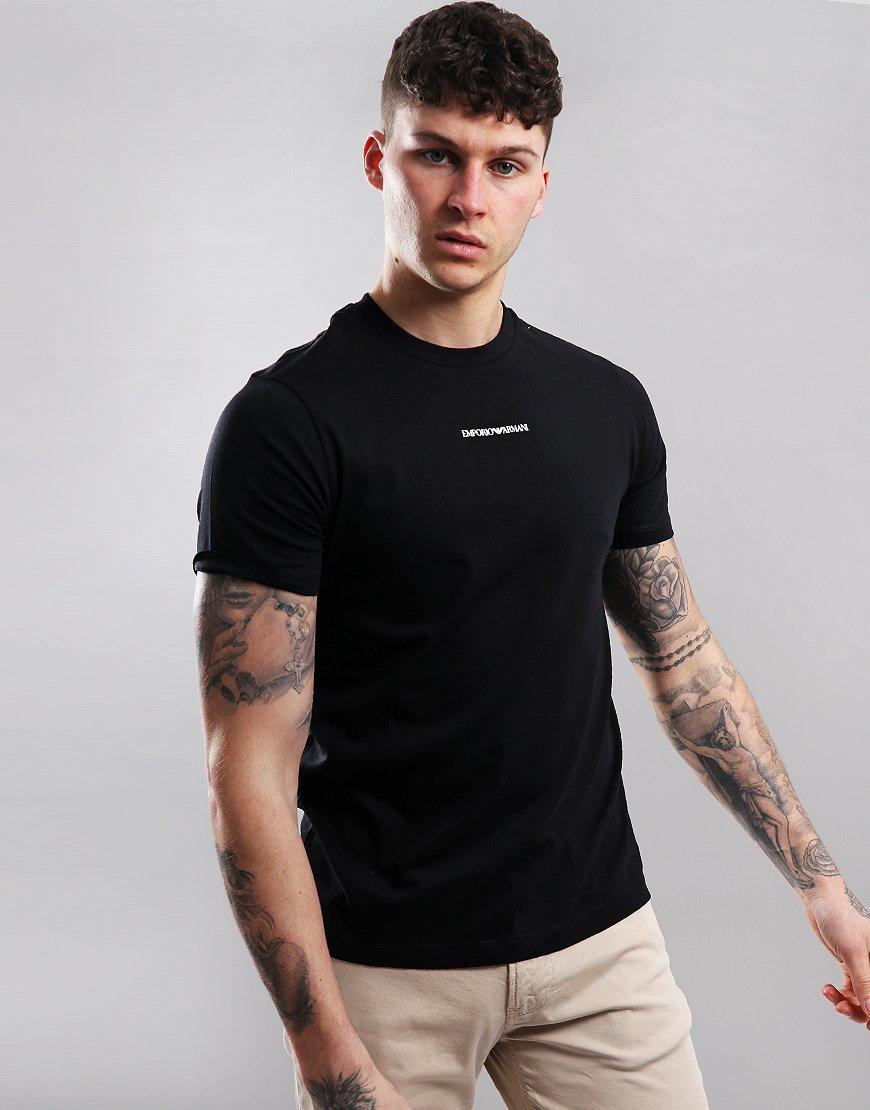 Emporio Armani Central Logo T-Shirt Black