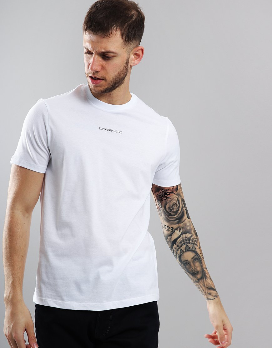 Emporio Armani Central Logo T-Shirt White