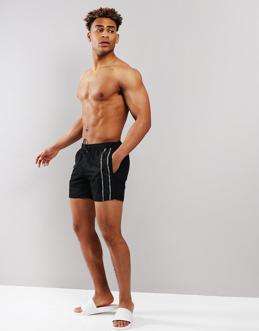 03af4b0daf Emporio Armani Colour Block Boxer Swim Shorts Black - Terraces Menswear