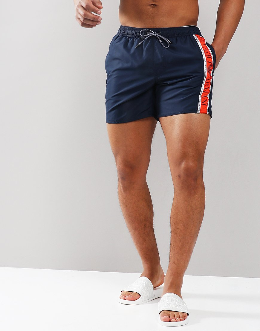Emporio Armani Colour Block Boxer Swim Shorts Navy