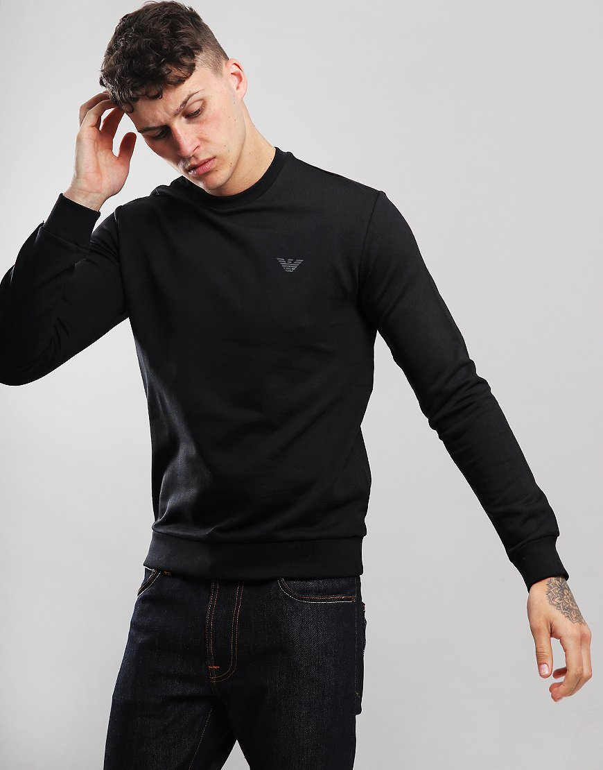 Emporio Armani Crew Neck Sweat Black