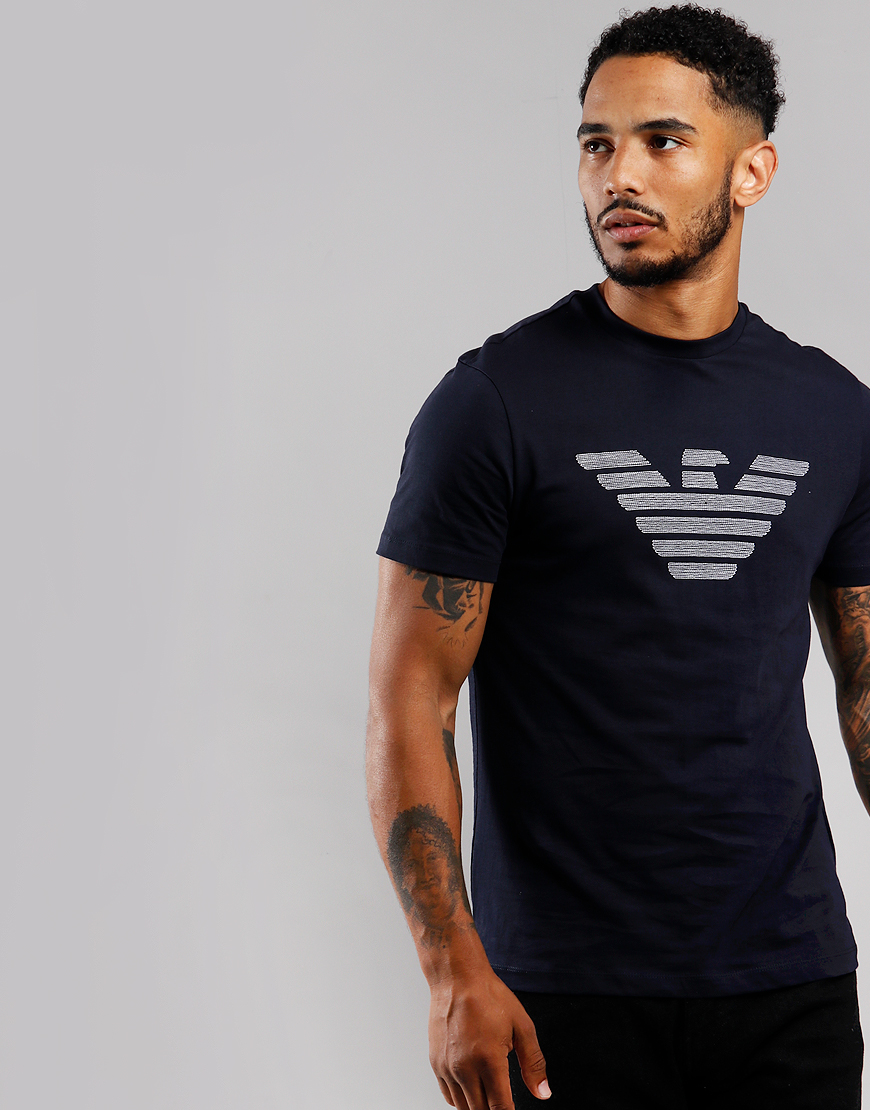 Emporio Armani Stitch Eagle T-Shirt Navy