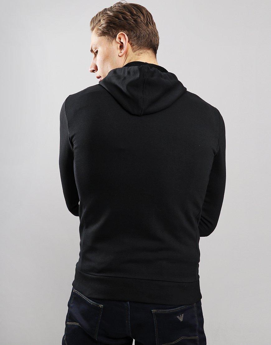 Emporio Armani Full Zip Hoodie Black