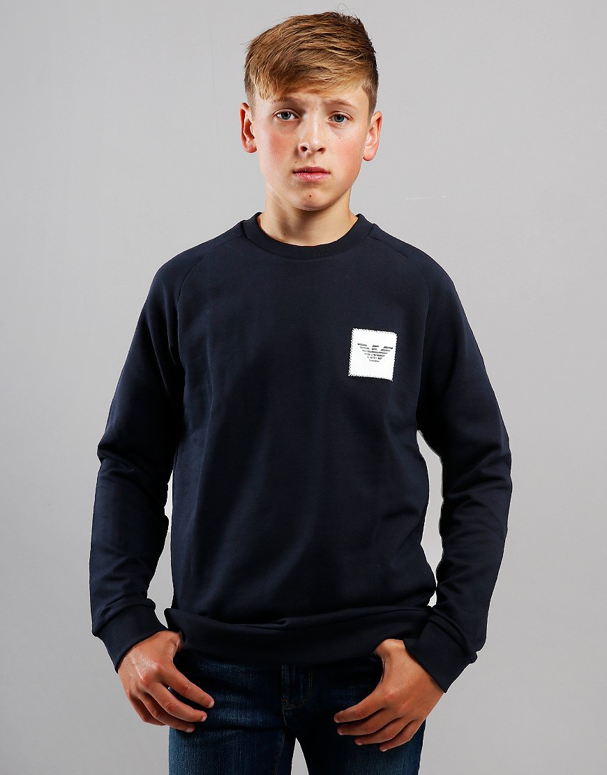 Armani Junior Crew Sweat Navy