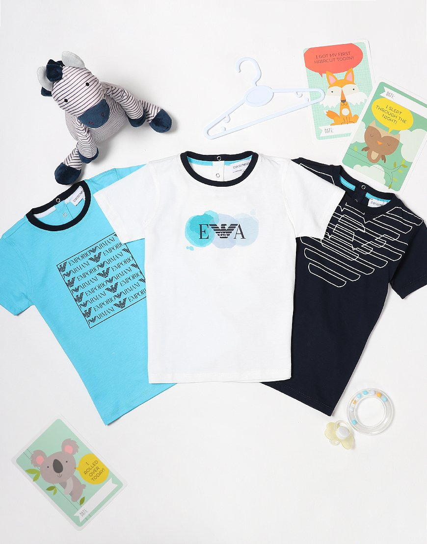 Armani Baby 3 Pack T-Shirts White