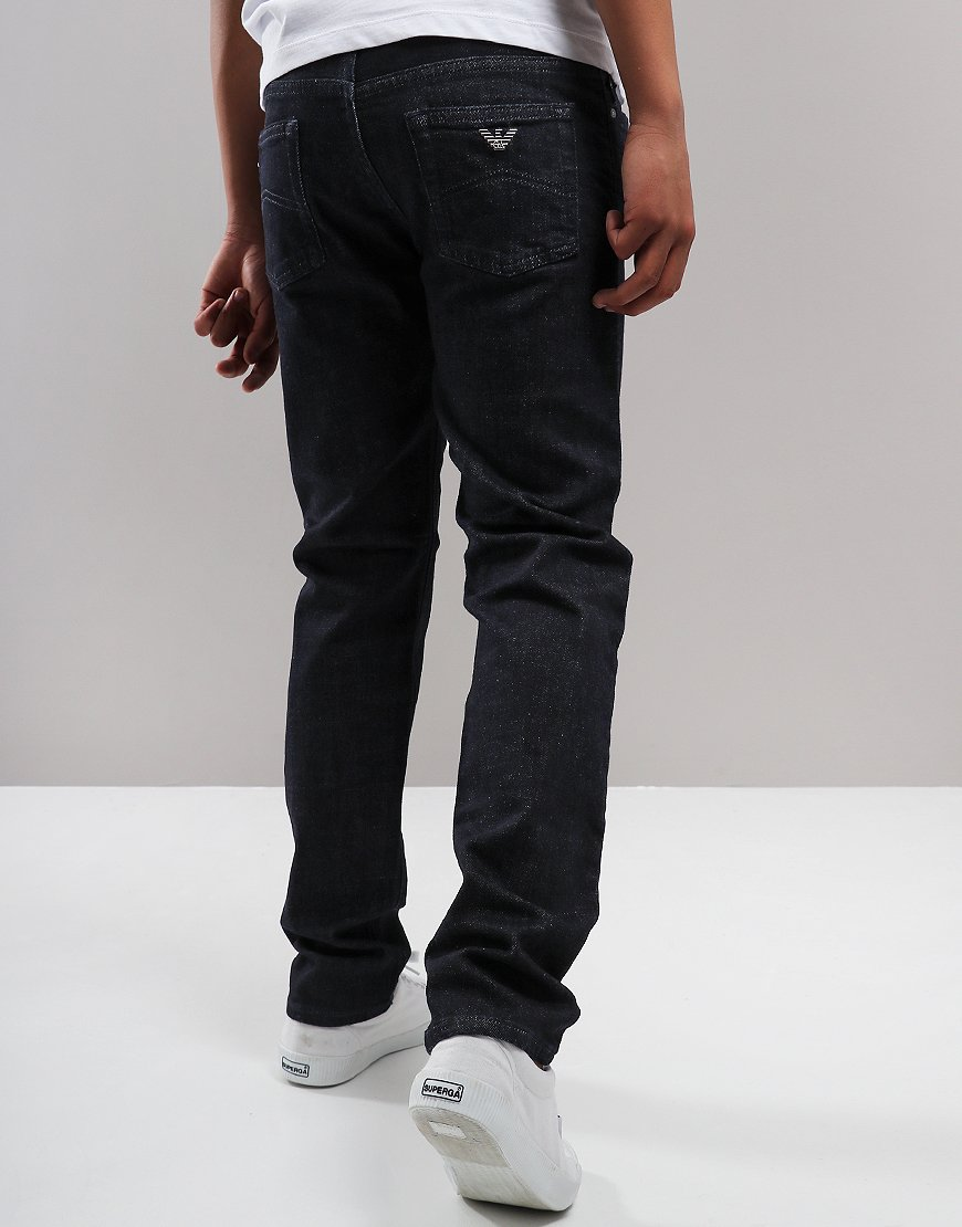 Armani Junior J45 Regular Fit Jeans Denim Blu
