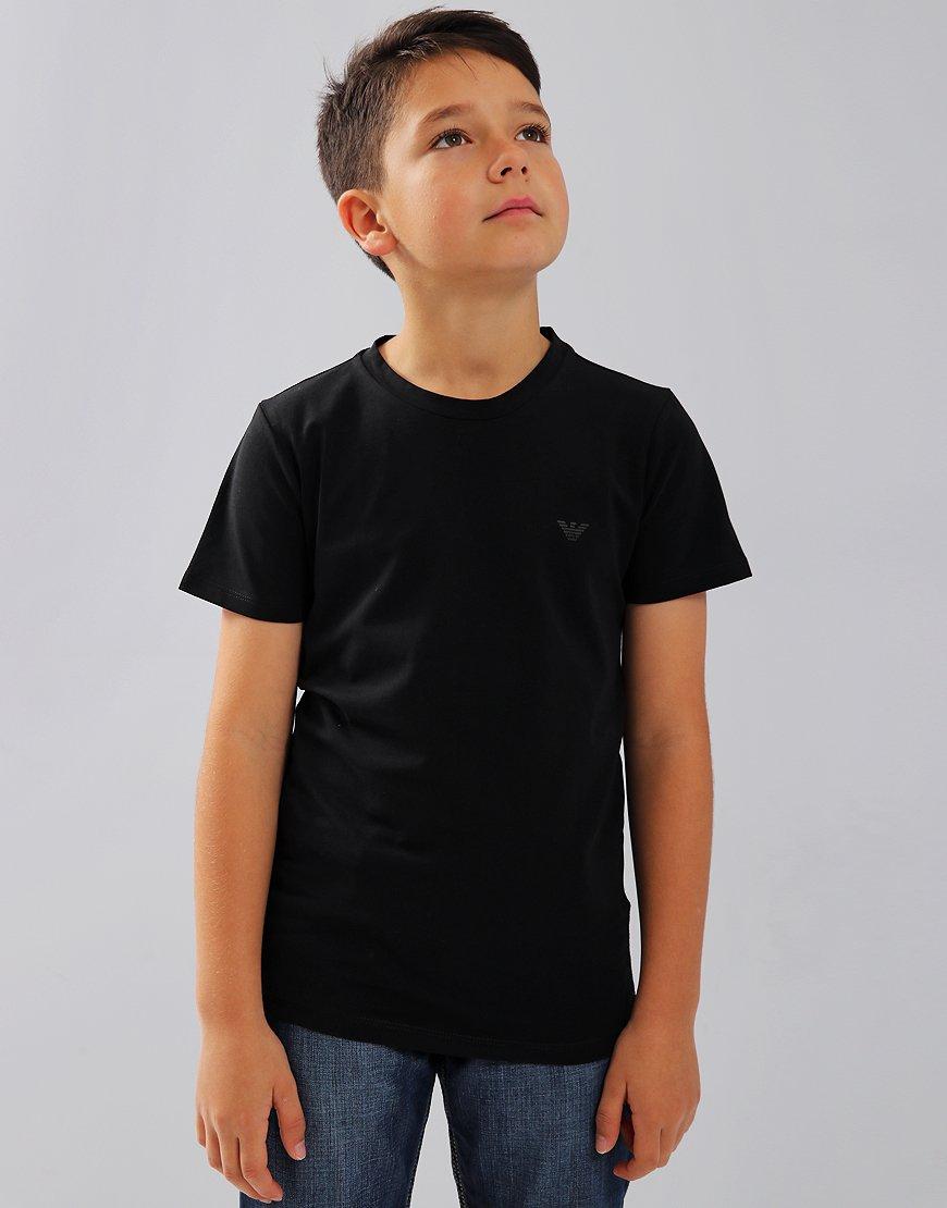 Armani Junior Small Logo T-Shirt Black