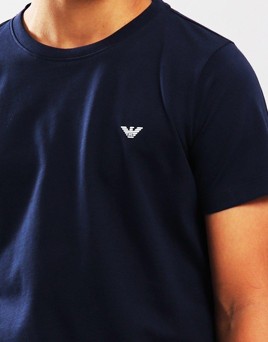 Armani Junior Small Logo T-Shirt Blue