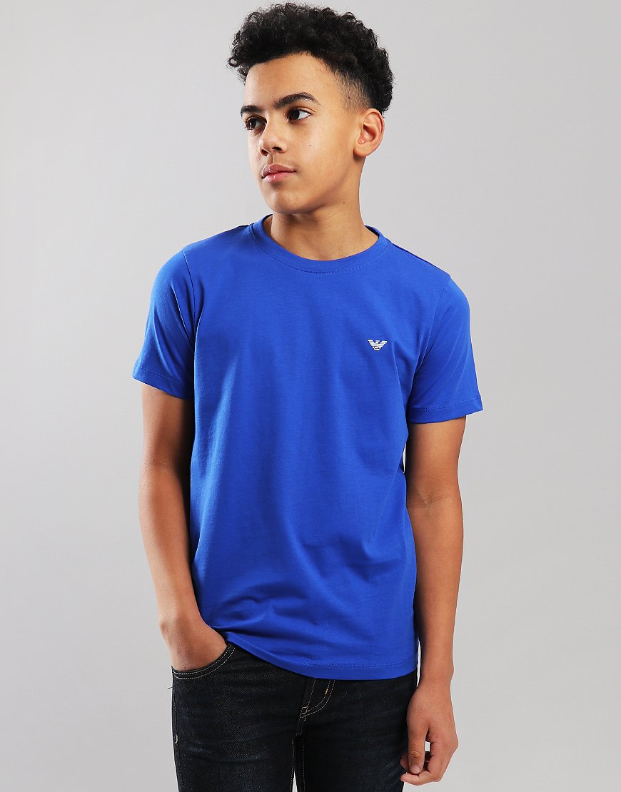 Armani Junior Small Logo T-Shirt Blue China
