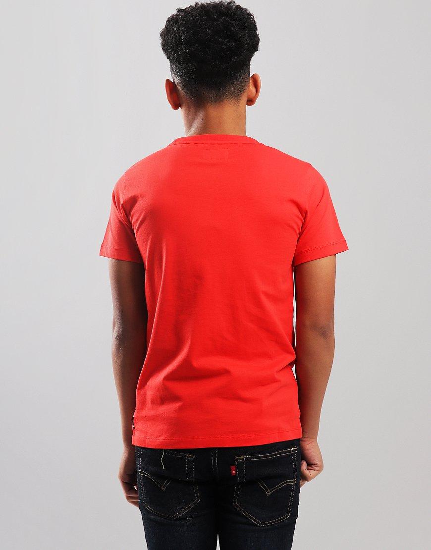 Armani Junior Small Logo T-Shirt Red