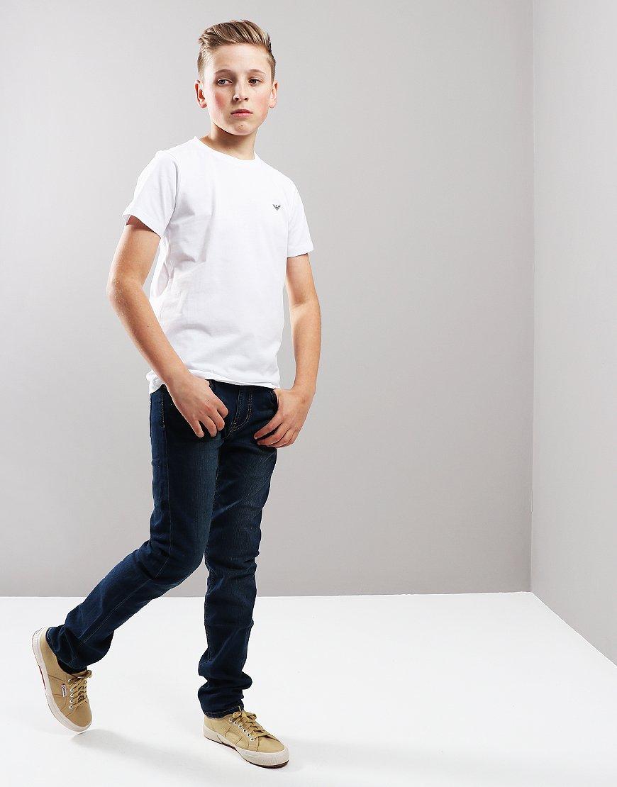 Armani Junior Small Logo T-Shirt White