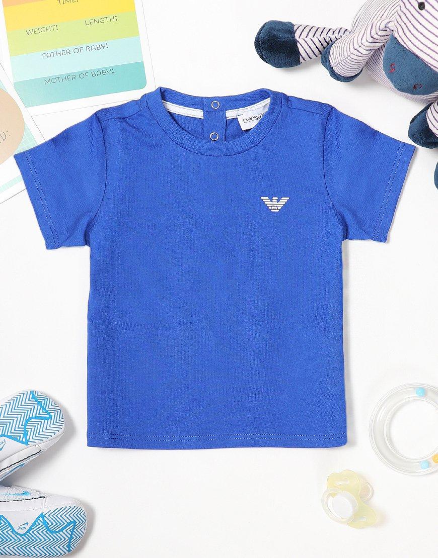 Armani Baby Small Logo T-Shirt China Blue