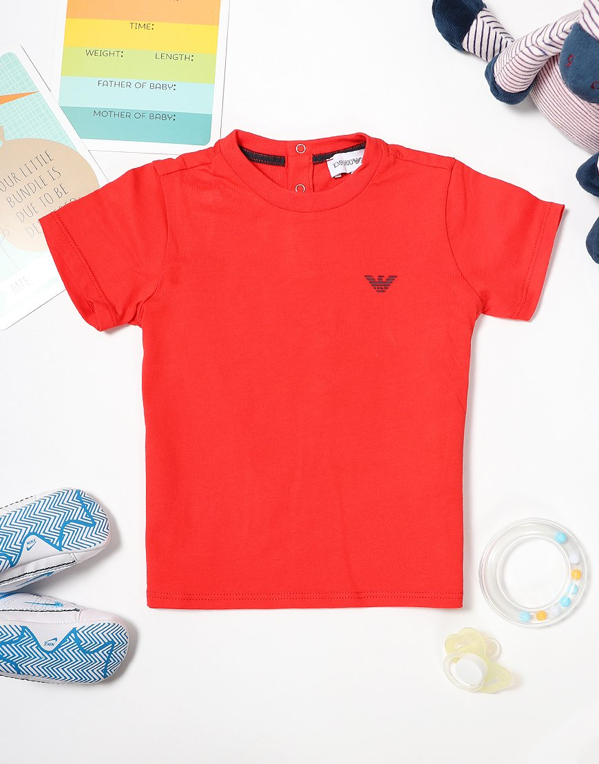 Armani Baby Small Logo T-Shirt Red