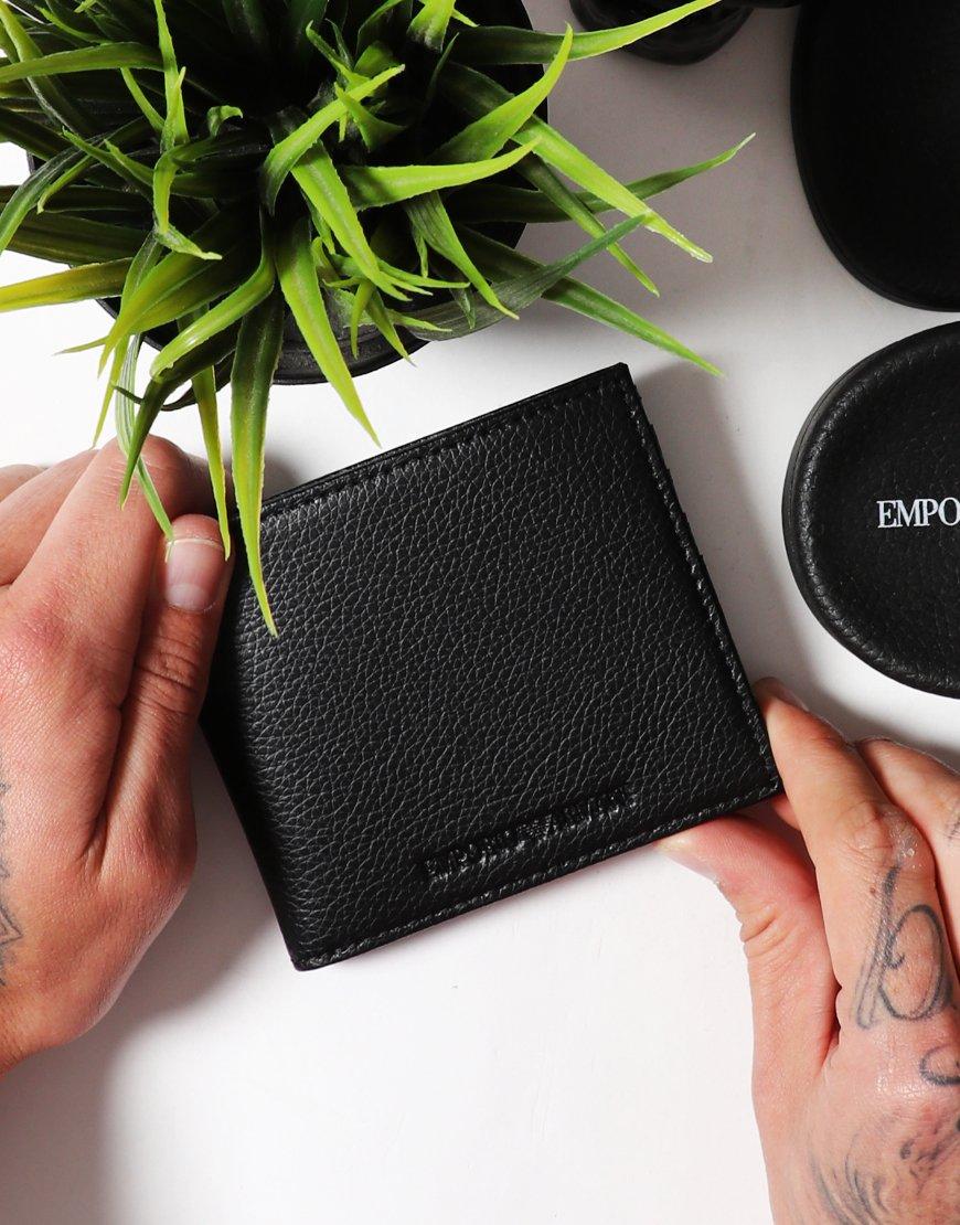 Emporio Armani Bi-fold Leather Wallet Black