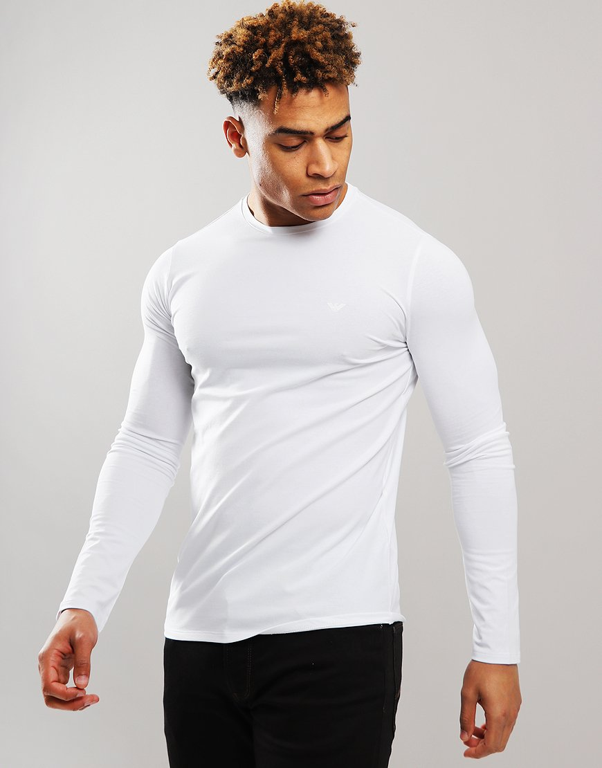 Emporio Armani Long Sleeve T-Shirt White