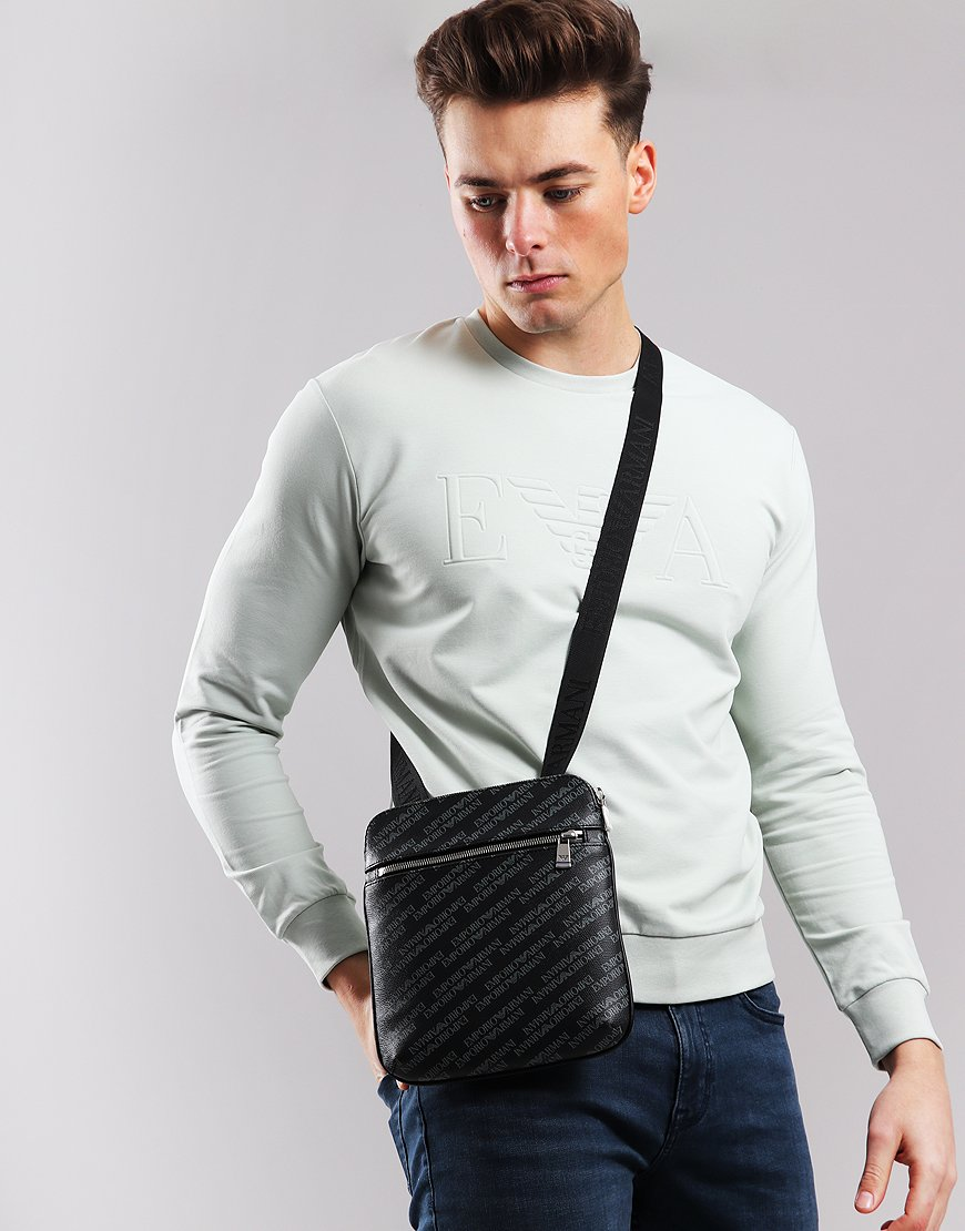 Emporio Armani Messenger Crossbody Bag Lavagne