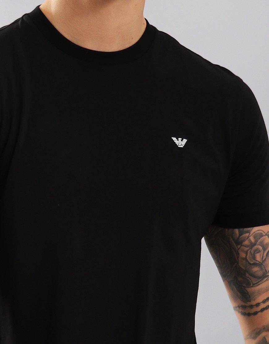 8e78219a11ddac Emporio Armani Plain Pima Cotton T-Shirt Black - Terraces Menswear