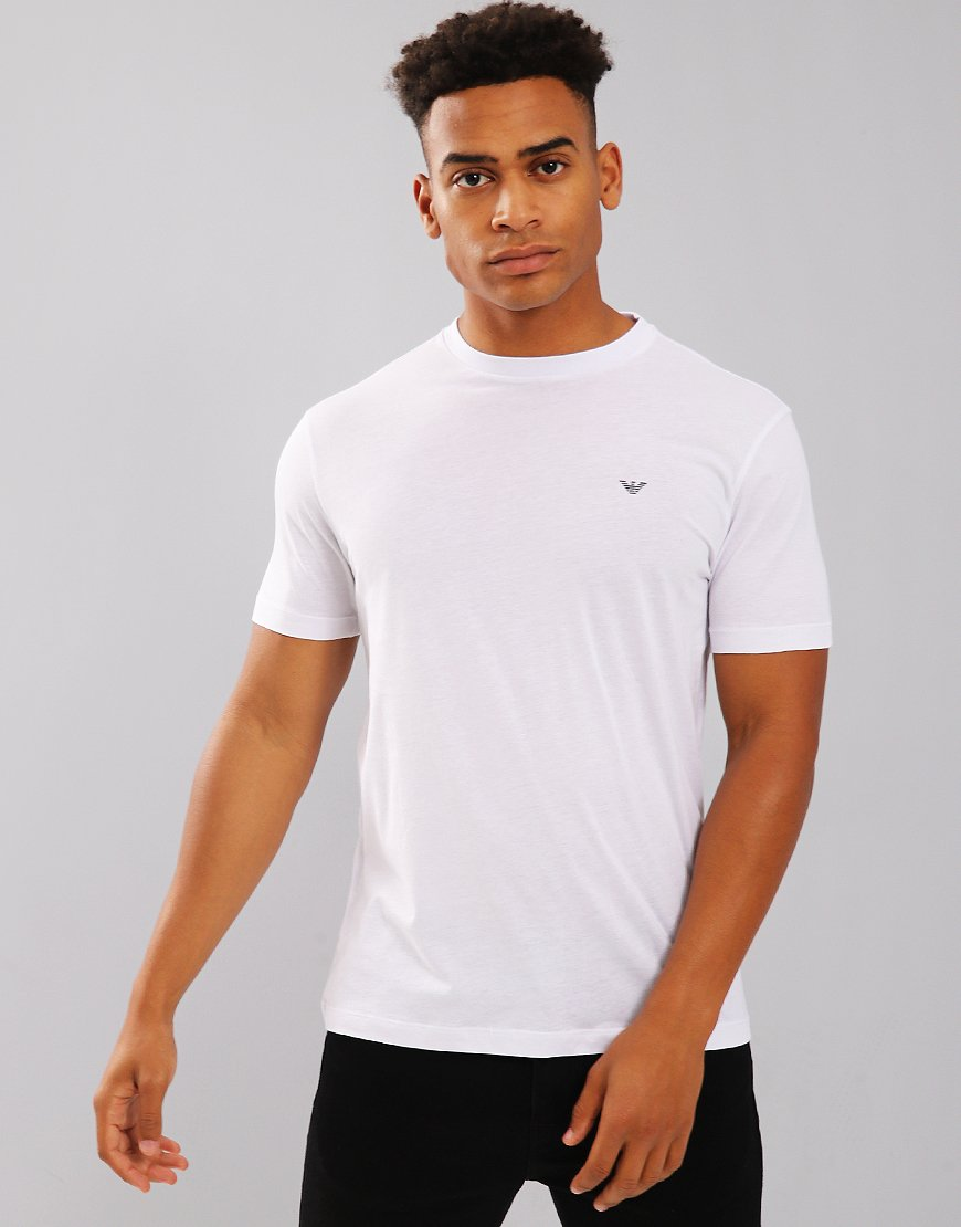 Emporio Armani Plain Pima Cotton T-Shirt White