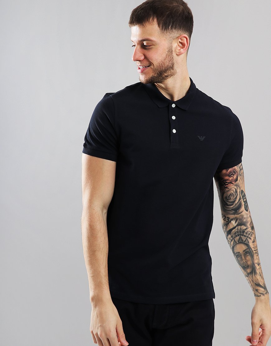 Emporio Armani Short Sleeve Polo Shirt Dark Blue