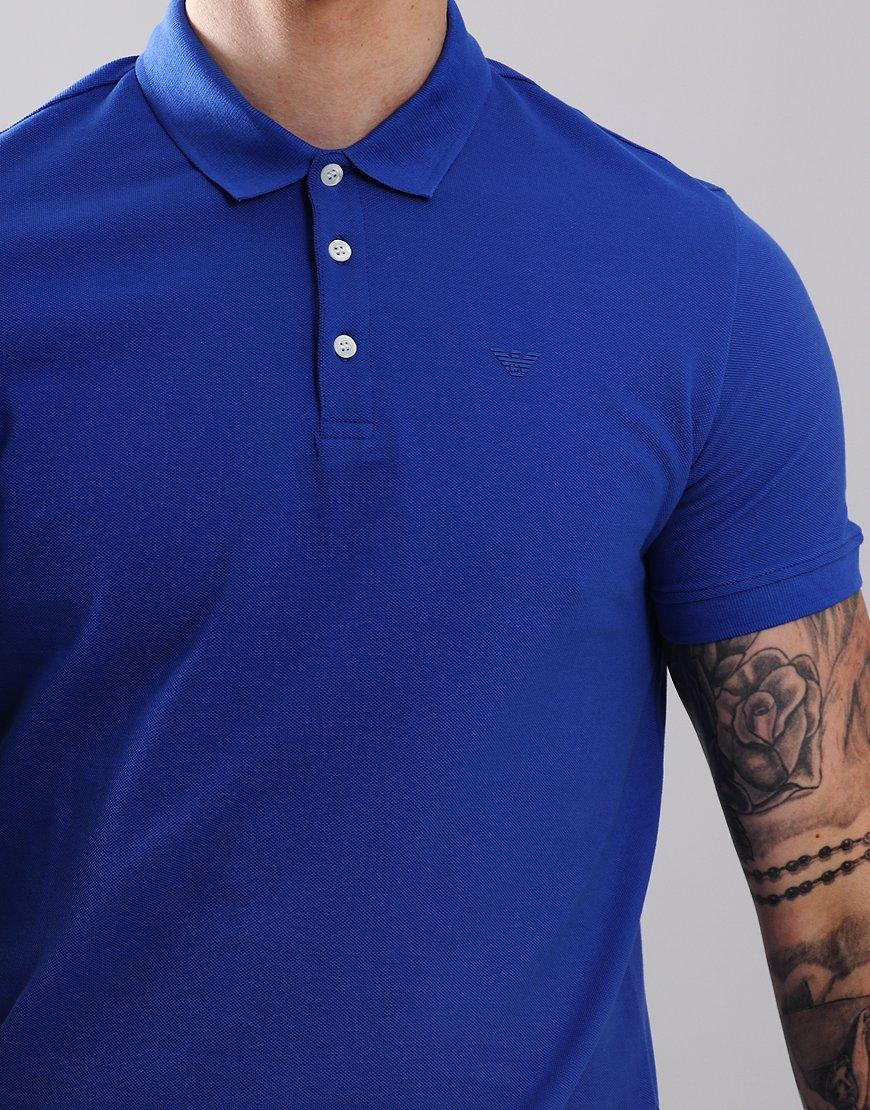 6b7de83ef2 Emporio Armani Short Sleeve Polo Shirt China Blue