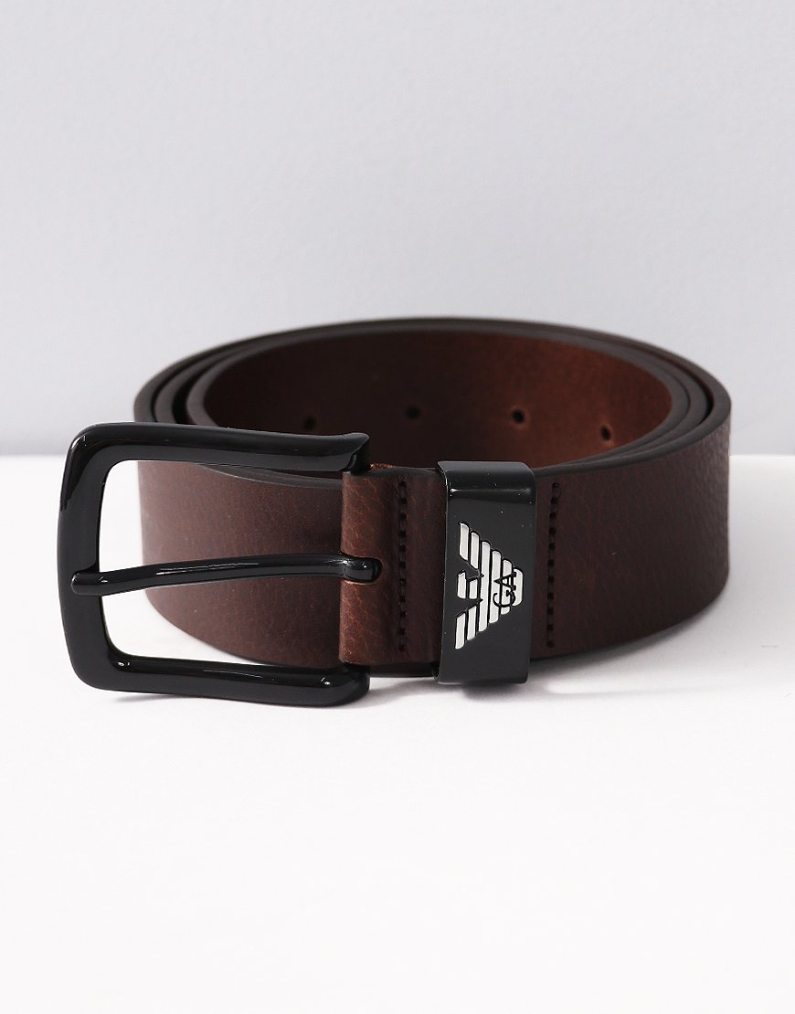 Armani Leather Tongue Belt Moro