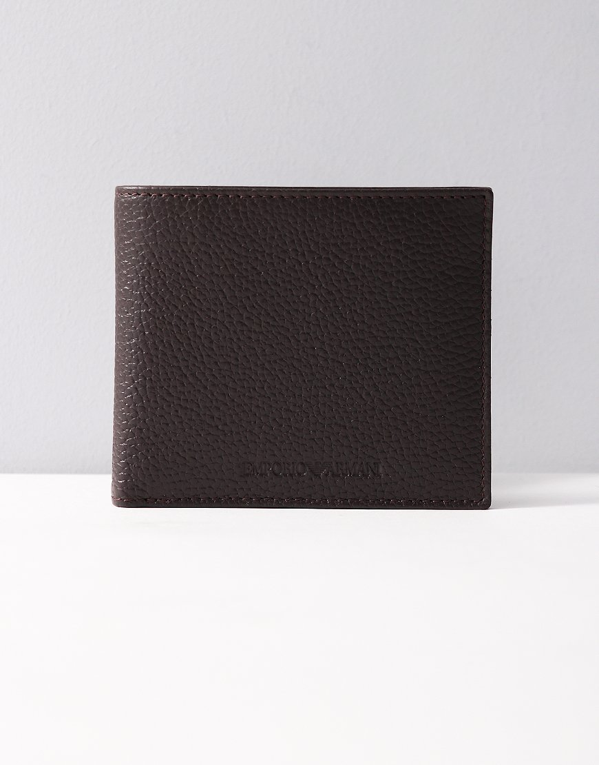 Armani Billfold Wallet Dark Brown