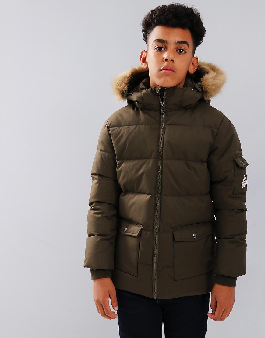 Pyrenex Kids Authentic Hooded Coat Gabardine Sauge