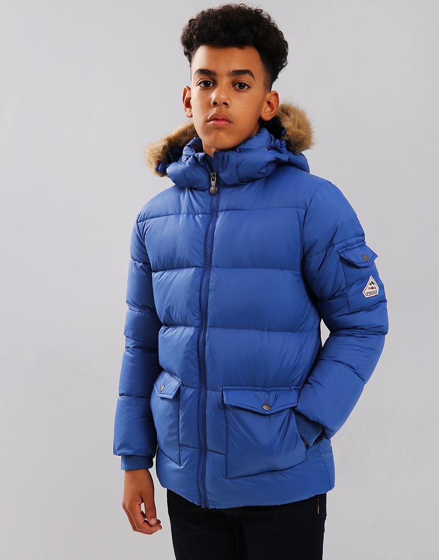 Pyrenex Kids Authentic Hooded Coat Mat Denim
