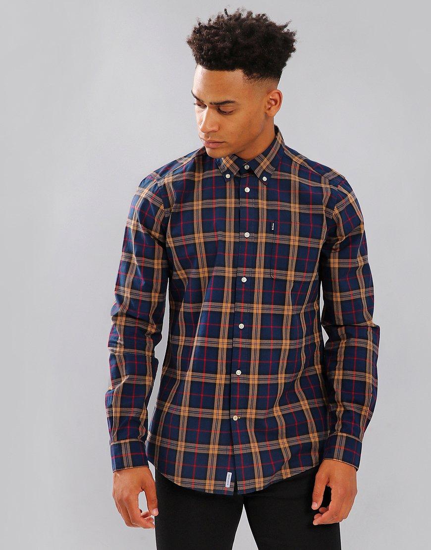 Barbour Mens Highland Long Sleeve Shirt Deep Blue