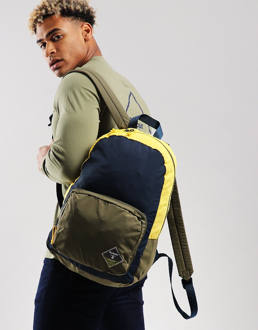Barbour Beacon Gable Backpack Navy/Olive